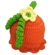 Baby Hat Crochet Pumpkin Pattern Hand Knitted Warm Cap Hat